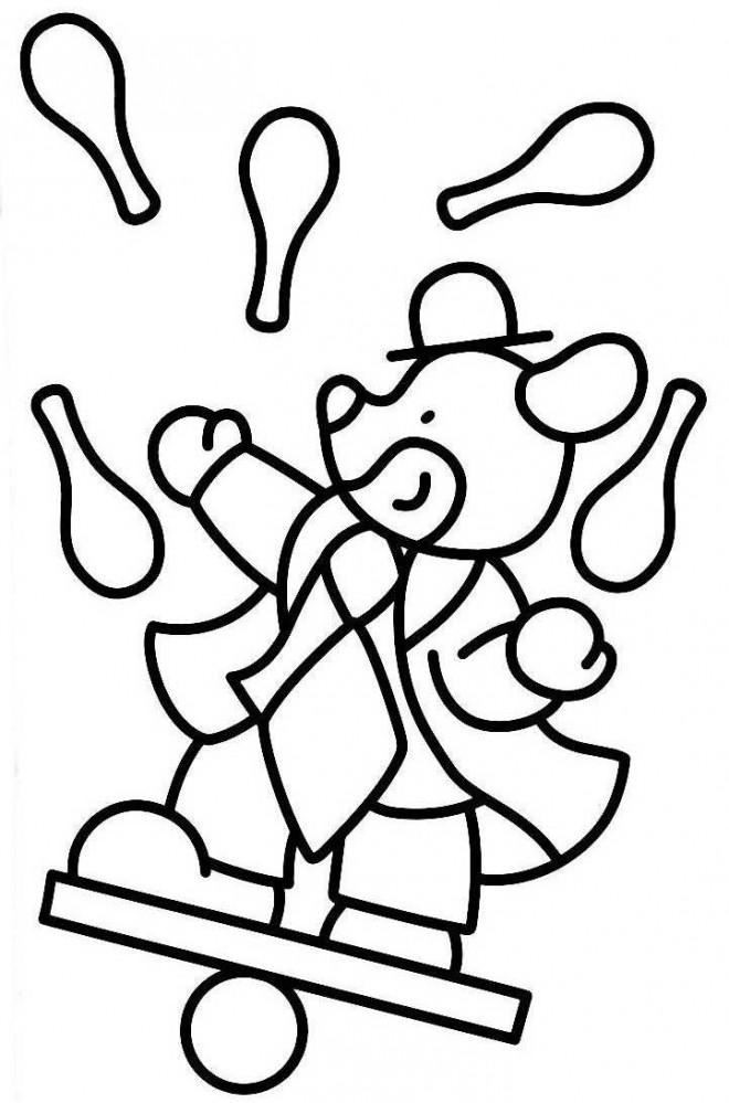 Coloriage et dessins gratuits Jongleur Animaux à imprimer