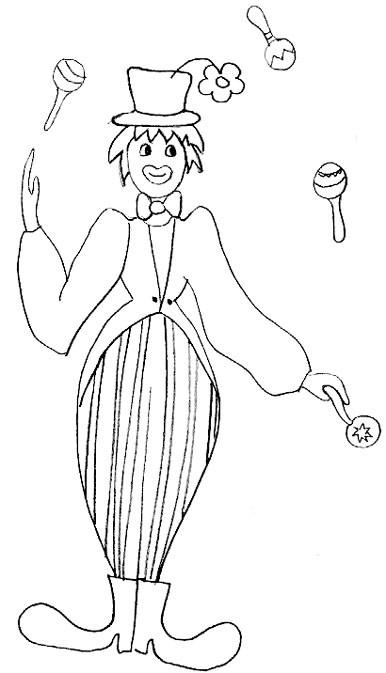 Coloriage et dessins gratuits Jongleur au crayon à imprimer