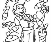 Coloriage et dessins gratuit Jongleur Cirque à imprimer