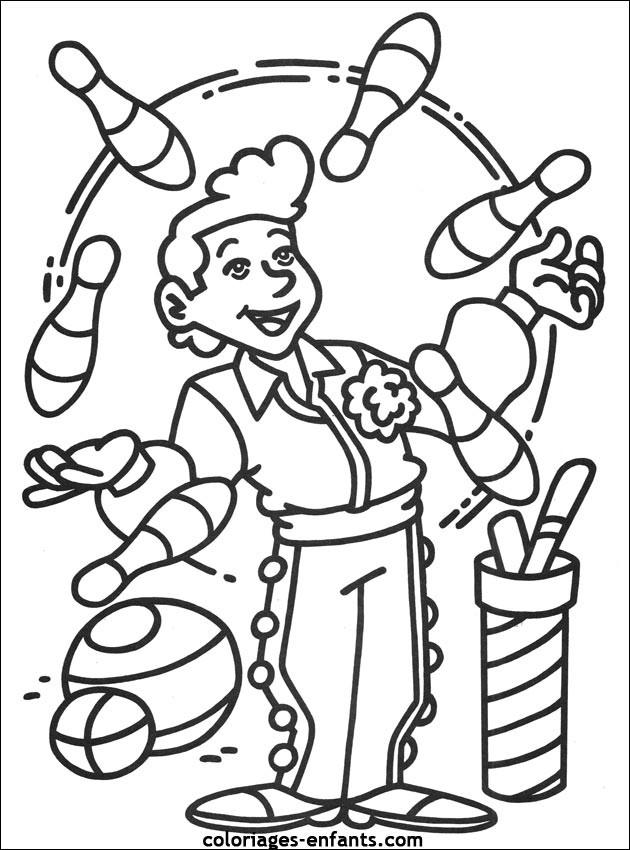 Coloriage et dessins gratuits Jongleur Cirque à imprimer