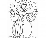 Coloriage Jongleur Clown