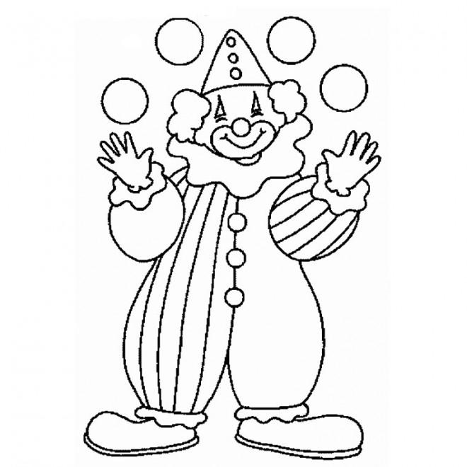 Coloriage et dessins gratuits Jongleur Clown à imprimer