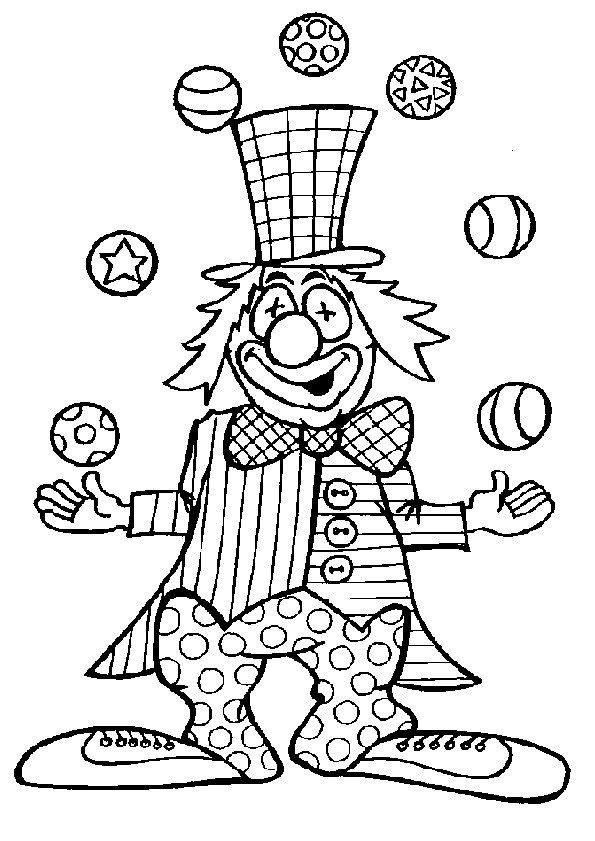 Coloriage et dessins gratuits Jongleur comique à imprimer