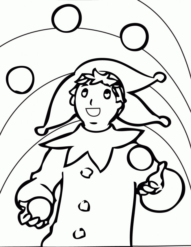 Coloriage et dessins gratuits Jongleur couleur à imprimer