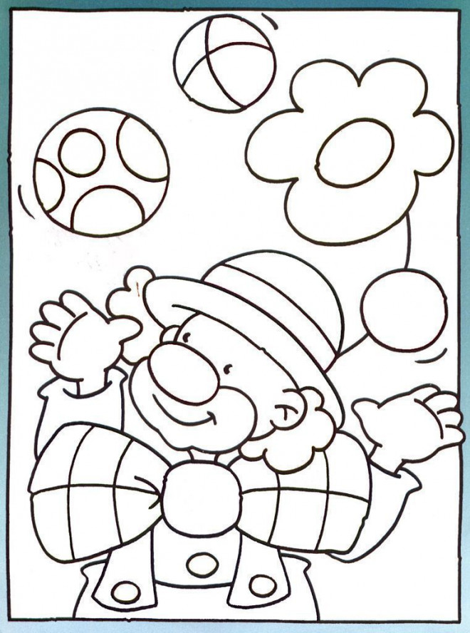 Coloriage et dessins gratuits Jongleur de Cirque pour relaxer à imprimer