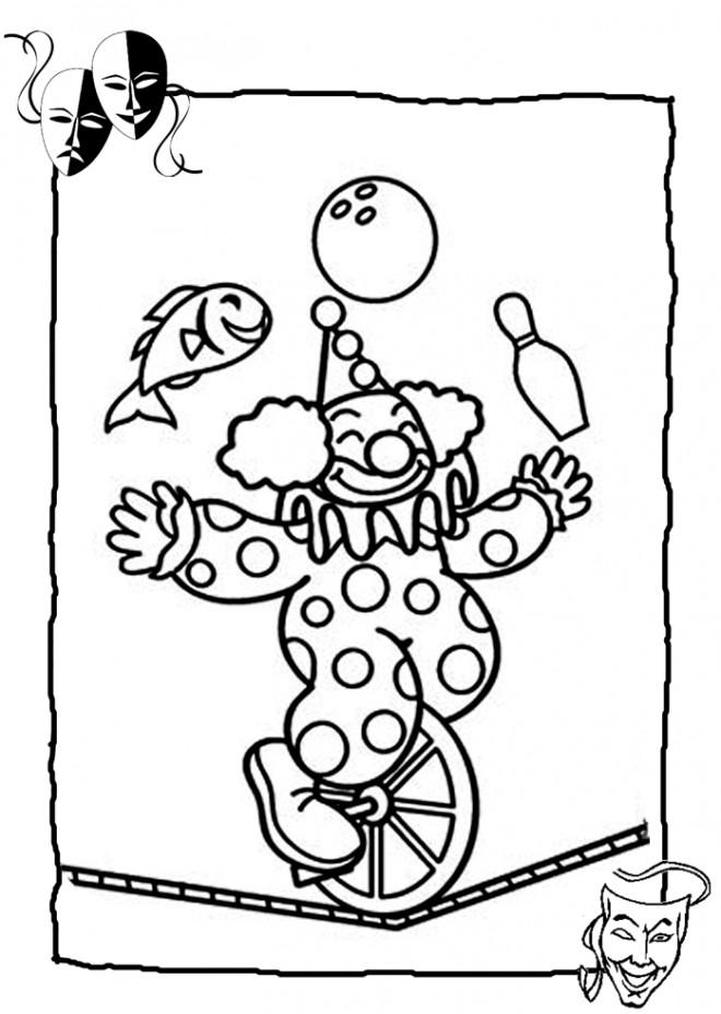 Coloriage et dessins gratuits Jongleur de Cirque pour se détendre à imprimer