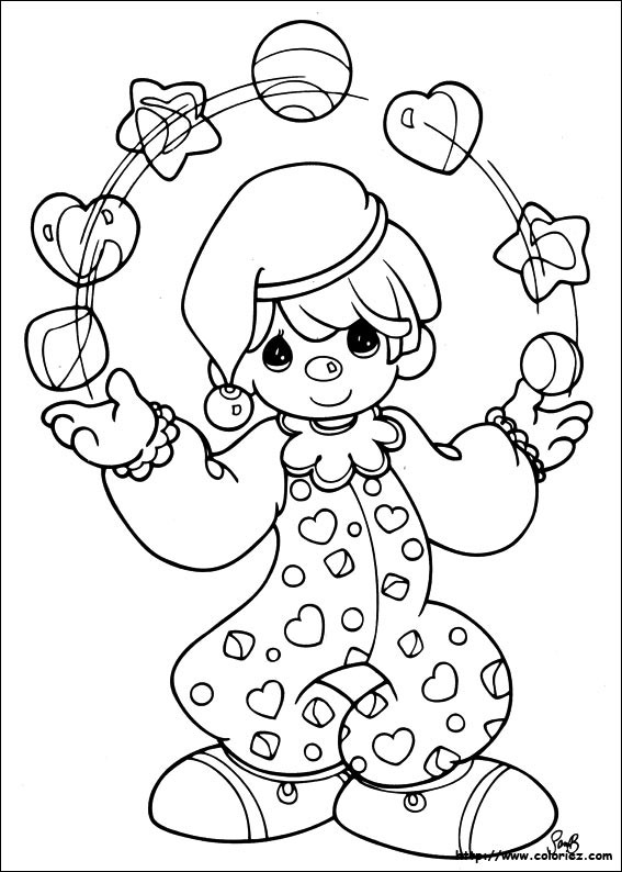 Coloriage et dessins gratuits Jongleur Enfant à imprimer