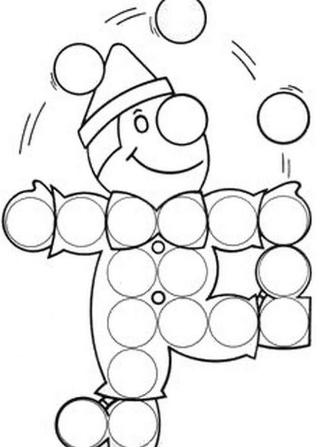 Coloriage et dessins gratuits Jongleur et ses Boules à imprimer