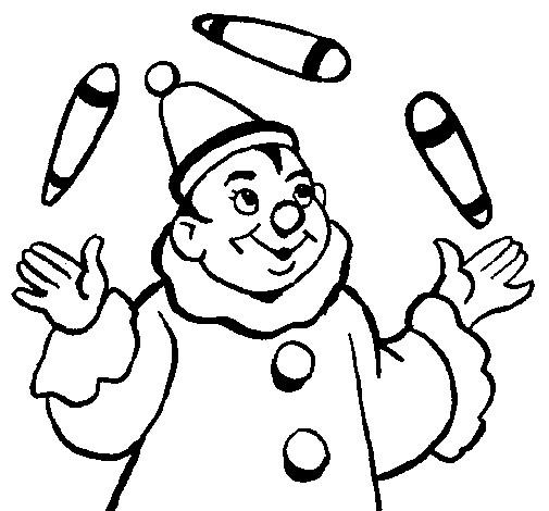 Coloriage et dessins gratuits Jongleur maternelle à imprimer