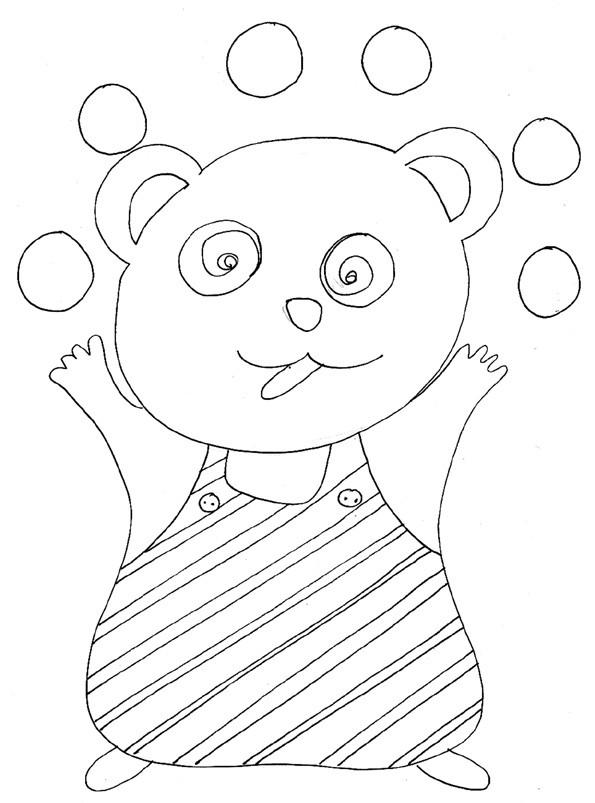 Coloriage et dessins gratuits Jongleur Ours au Crayon à imprimer