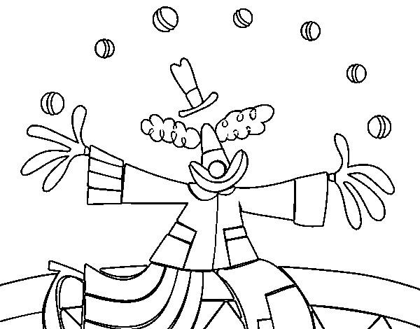 Coloriage et dessins gratuits Jongleur pour décoration à imprimer