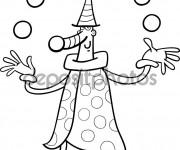 Coloriage et dessins gratuit Jongleur pour Les Petits à imprimer