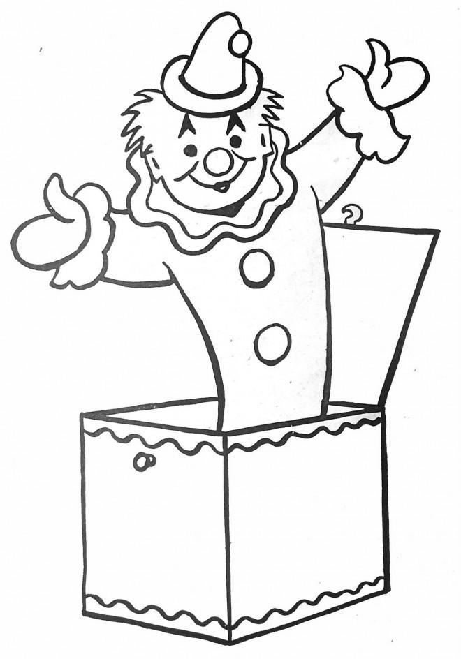 Coloriage et dessins gratuits Jongleur qui sort de La Boîte à imprimer