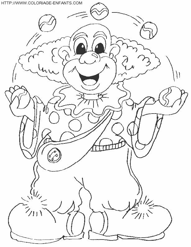 Coloriage et dessins gratuits Jongleur rigolo à imprimer