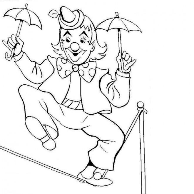 Coloriage et dessins gratuits Jongleur sur La corde à imprimer