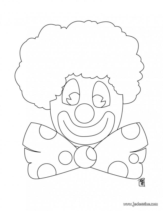 Coloriage Tete De Clown De Cirque Dessin Gratuit A Imprimer