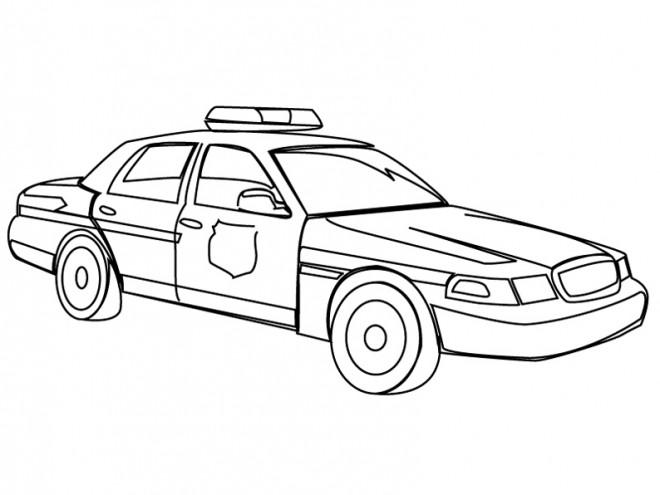 Coloriage la voiture de police am ricaine dessin gratuit imprimer - Coloriage voiture enfant ...
