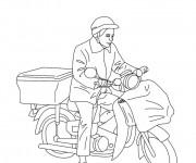 Coloriage et dessins gratuit Le facteur à vélo à imprimer