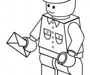 Coloriage Le facteur de Lego City