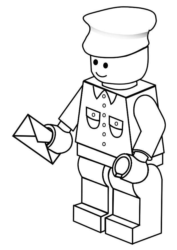 Coloriage et dessins gratuits Le facteur de Lego City à imprimer