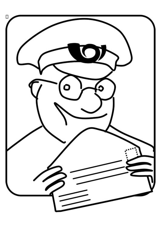Coloriage et dessins gratuits Le facteur facile à imprimer