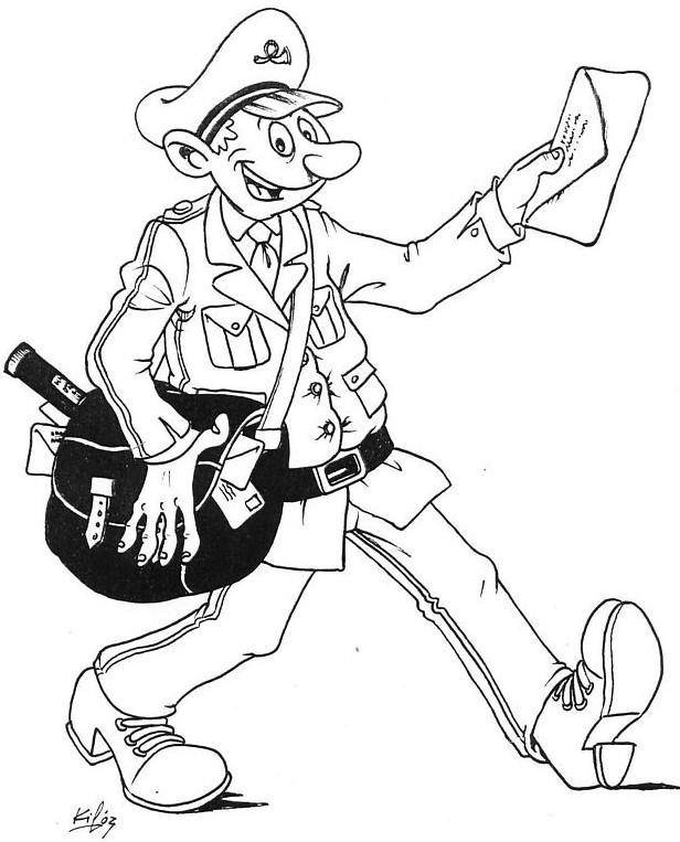Coloriage et dessins gratuits Le Facteur tient une lettre à imprimer