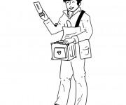 Coloriage et dessins gratuit Le métier du facteur à imprimer
