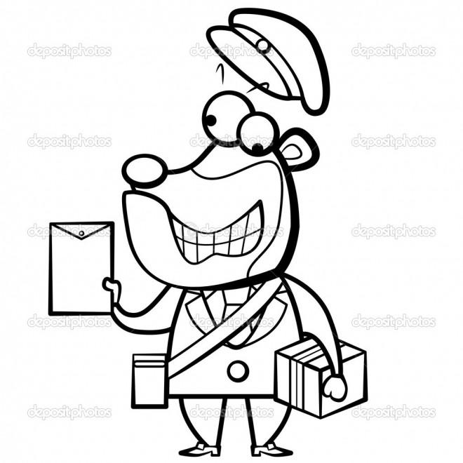 Coloriage et dessins gratuits Un facteur humoristique à imprimer