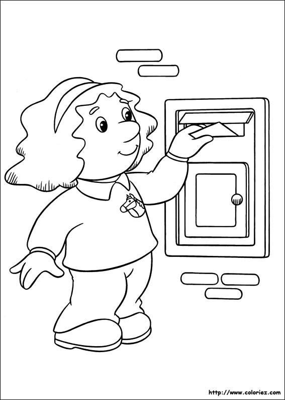 Coloriage et dessins gratuits Une petite fille met une lettre dans la boîte à imprimer