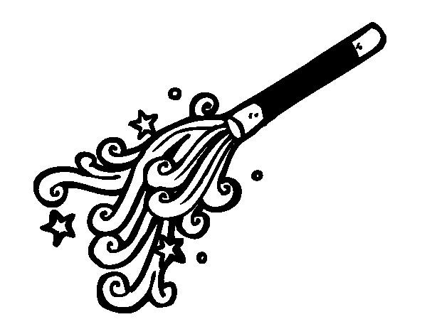 Coloriage et dessins gratuits Bâton du Magicien à imprimer