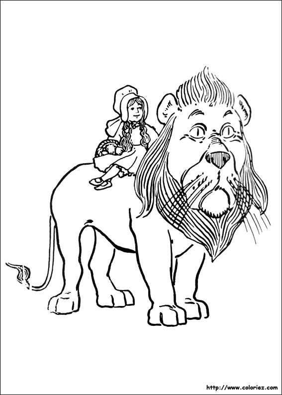 Coloriage et dessins gratuits Fillette sur Le Lion à imprimer