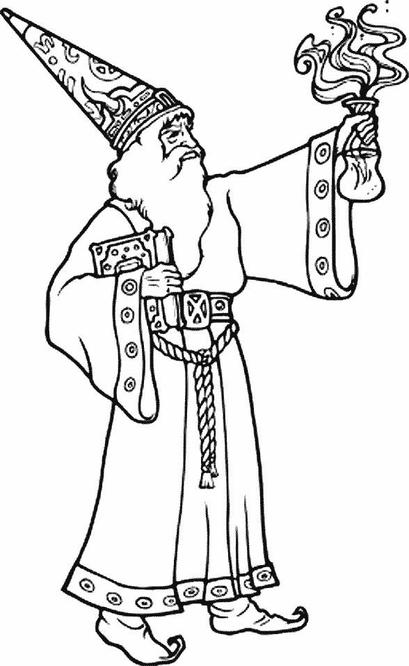 Coloriage et dessins gratuits Image de Magicien à imprimer