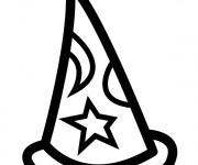 Coloriage et dessins gratuit Le Chapeau de Magicien à imprimer