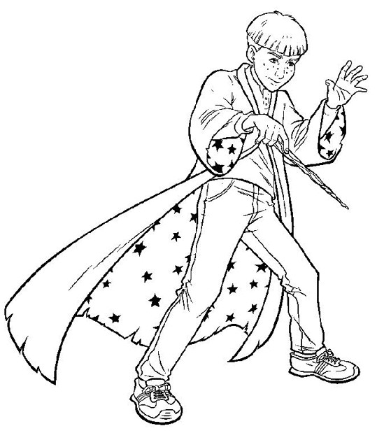 Coloriage et dessins gratuits Le Garçon Magicien à imprimer