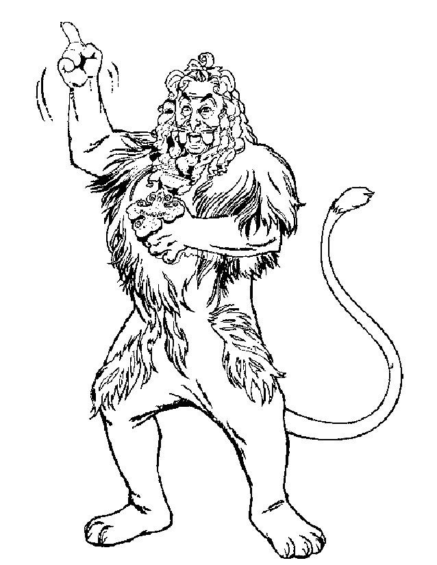 Coloriage et dessins gratuits Le Lion Homme à imprimer