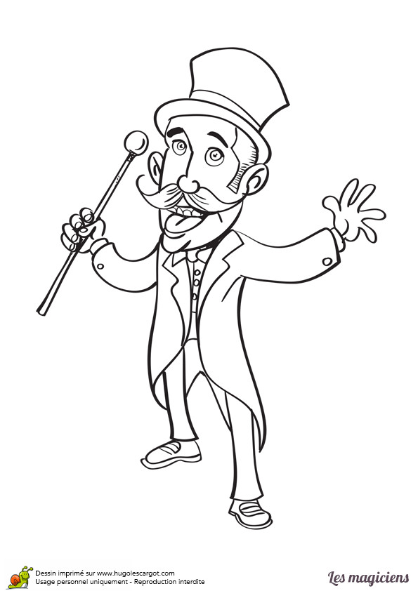 Coloriage et dessins gratuits Le Magicien amusant à imprimer