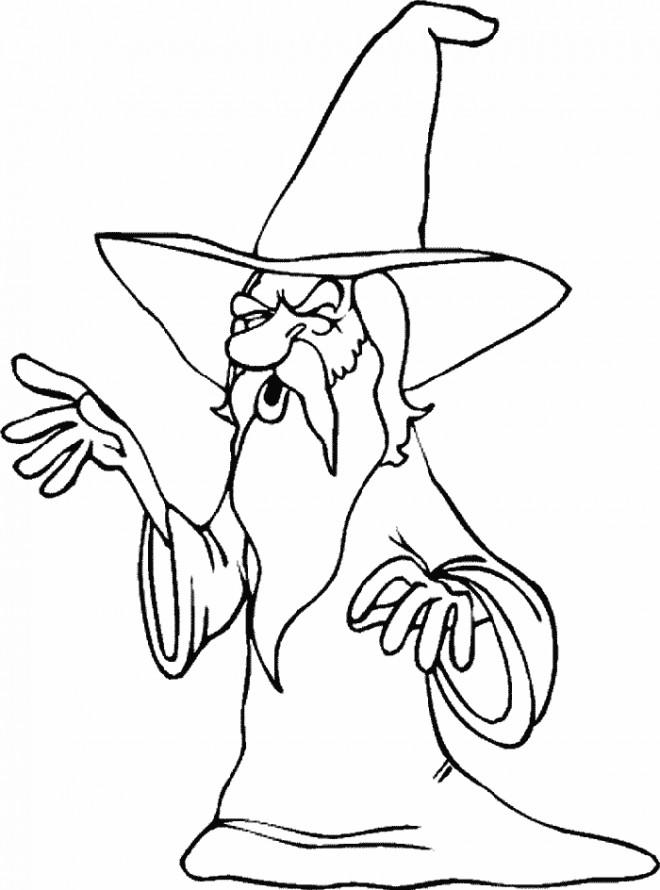 Coloriage et dessins gratuits Le Magicien sage à imprimer