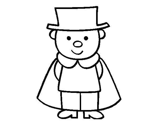 Coloriage et dessins gratuits Le Petit Magicien souriant à imprimer