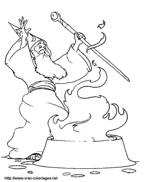 Coloriage et dessins gratuits Les Rituels de Magicien à imprimer