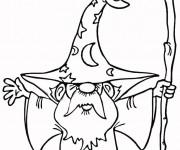 Coloriage Magicien 11