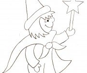 Coloriage Magicien 7