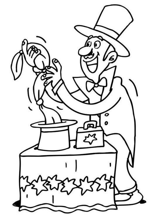 Coloriage et dessins gratuits Magicien à colorier à imprimer