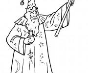 Coloriage et dessins gratuit Magicien à découper à imprimer