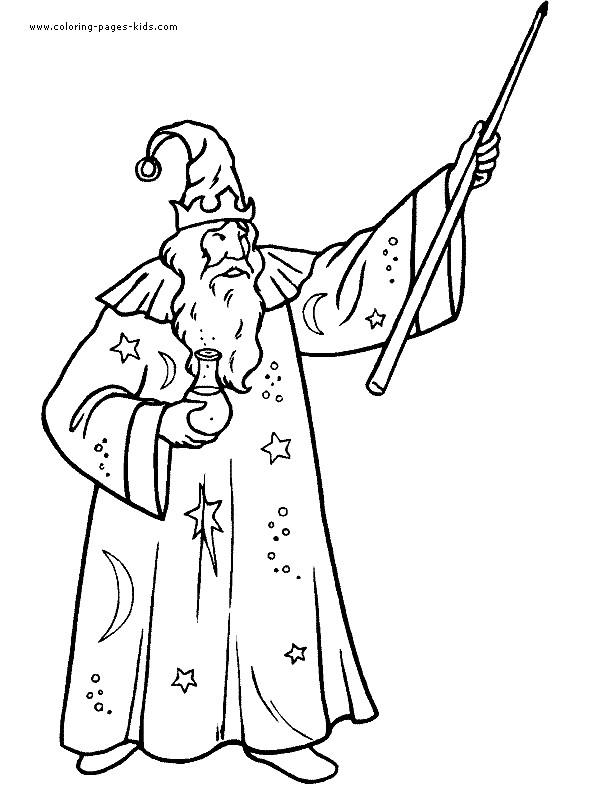 Coloriage et dessins gratuits Magicien à découper à imprimer