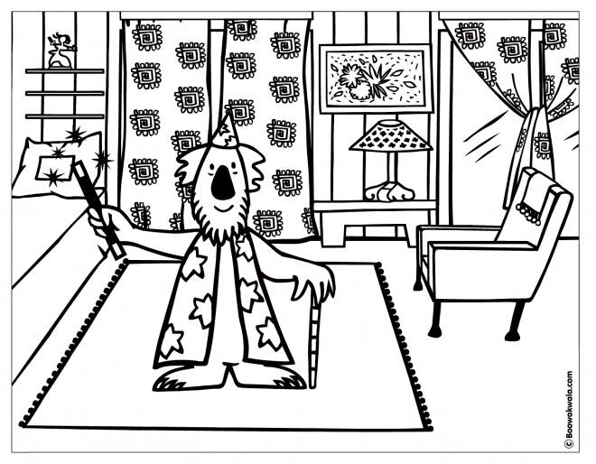Coloriage et dessins gratuits Magicien à La maison à imprimer