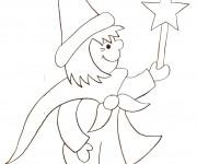 Coloriage et dessins gratuit Magicien au crayon à imprimer