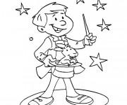Coloriage et dessins gratuit Magicien couleur à imprimer