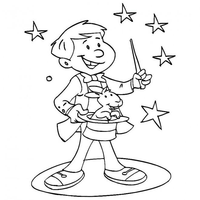 Coloriage et dessins gratuits Magicien couleur à imprimer