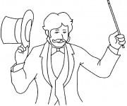 Coloriage et dessins gratuit Magicien de Cirque à imprimer