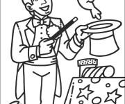 Coloriage et dessins gratuit Magicien en Ligne à imprimer